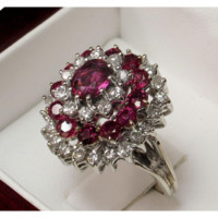 14k Ruby Diamond Dinner Ring Appraised over $5000!