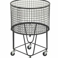 Benzara Amazing Metal Roll Storage Basket