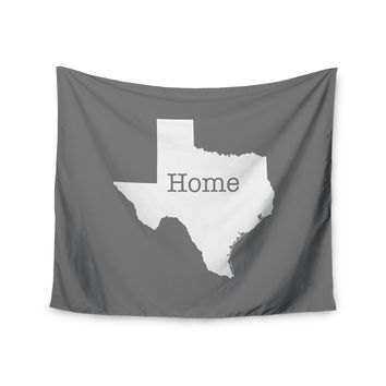 "Bruce Stanfield ""Texas Is Home"" White Gray Wall Tapestry"