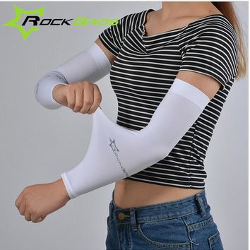ROCKBROS Bicycle Cycling Arm Sleeves Men Women Summer Running Fishing Clambing olf Arm Warmer Cool Max UV Protection oversleeve
