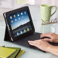 Bluetooth Keyboard Portfolio for iPad Tablet at Brookstone