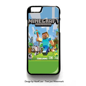 Minecraft Xbox Edition for iPhone 4 4S 5 5S 5C 6 6 Plus , iPod Touch 4 5  , Samsung Galaxy S3 S4 S5 Note 3 Note 4 , and HTC One X M7 M8 Case Cover