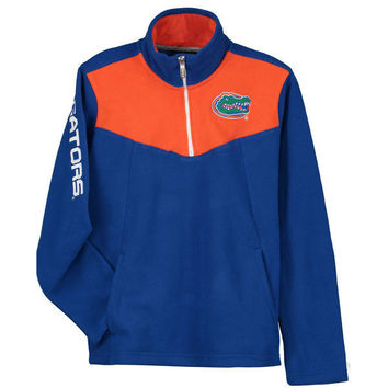 NCAA Florida Gators Youth Royal Break Point Quarter-Zip Micro Fleece Jacket