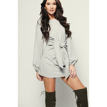 Dependable Knit Dress (Grey)