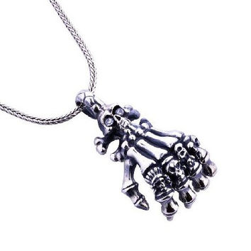 Zombie Skeleton Pendant Skull Hand Necklace for Men's Fashion Jewelry (PENDANT ONLY)