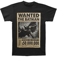 Batman Men's  Wanted T-shirt Black