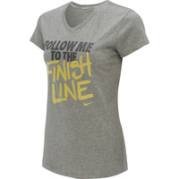 NIKE Women's Follow Me V-Neck Short-Sleeve Running T-Shirt