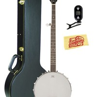 Oscar Schmidt OB3 Open-Back 5-String Banjo Pro Bundle