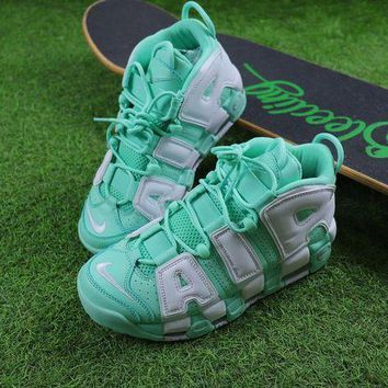 Nike Air More Uptempo Qs Fluorescent Green Basketball Shoes Sneaker 415082-300 - Beauty Ticks