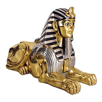 Park Avenue Collection Grand Gilded Egyptian Sphinx