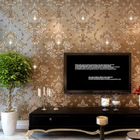 3D Diamond Modern Damask Wallpaper