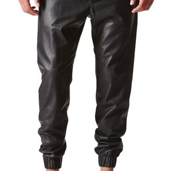 Bullhead Denim Co Dillon Skinny Polyurethane Jogger Pants - Mens Pants - Black