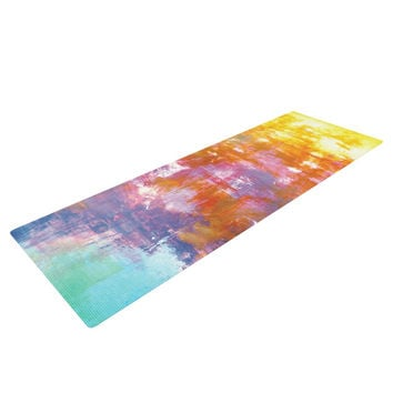 "Ebi Emporium ""Off The Grid II"" Multicolor Painting Yoga Mat"