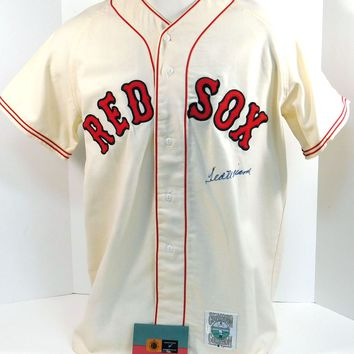 Ted Williams Signed Autographed Boston Red Sox Baseball Jersey (UDA COA)
