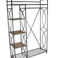 Suave Metal Wood Clothes Rack