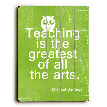 Teaching by Artist Cheryl Overton Wood Sign