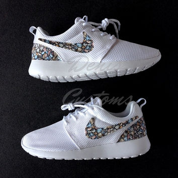 Nike Roshe Run One White Custom Stones Print