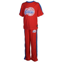 Los Angeles Clippers Youth Big Logo Pajama Set - Royal Blue/Red - http://www.shareasale.com/m-pr.cfm?merchantID=7124&userID=1042934&productID=540326378 / Los Angeles Clippers