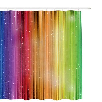 Sparkling Rainbow Fabric Shower Curtain