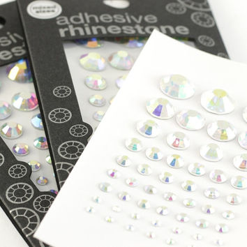 BULK Self-Adhesive AB Cystal/Rhinestone/Diamante Pack (3mm/5mm/6mm) - Accessories, Cakes, Bouquets, Jewellery, Costume!