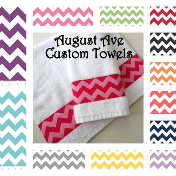 You Pick the Color, 13 Colors - Chevron Custom Bathroom Chevron hand towel, bathroom Hand Towel, bathroom hand towels