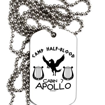 Cabin 7 Apollo Camp Half Blood Adult Dog Tag Chain Necklace by TooLoud