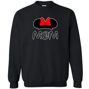 Mom Catoon Head Unisex Crewneck Couple Matching Valentines Day Sweatshirt