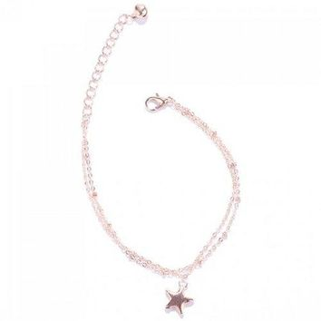 Stylish Multilayer Pentagram Pendant Anklet For Women - Golden