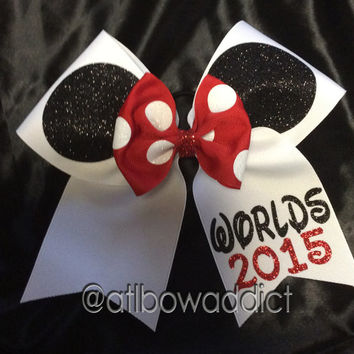 Cheer Bow - Minnie Ears with name or Worlds 2015