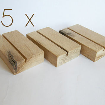 5 x Wood Business Card Holder. Oak Business Card Holder. Wooden Business Card Holder