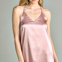 Rosé Champagne Slip Dress