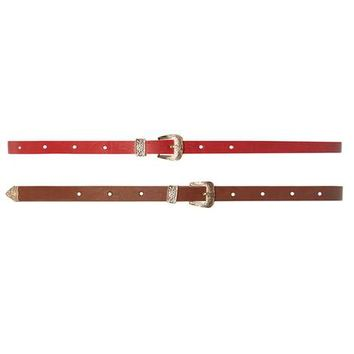 Tan And Red Western 2 Pack Belts - View All New In - New In
