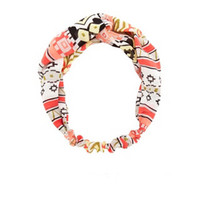 TRIBAL PRINT PRINT TWISTED HEAD WRAP