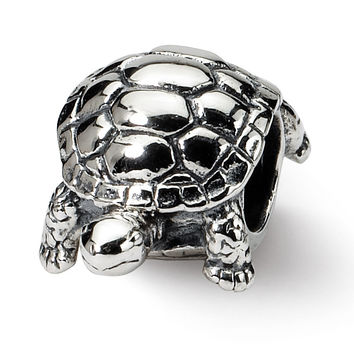 Sterling Silver Reflections Turtle Bead QRS1224 Size: 12.73 x 8.18 mm QRS1224