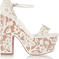 Christian Louboutin - Houghton 160 patent-leather and suede platform sandals