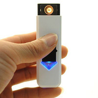No Gas USB Electronic Rechargeable Battery Flameless Cigarette Cigar Lighter 3C1