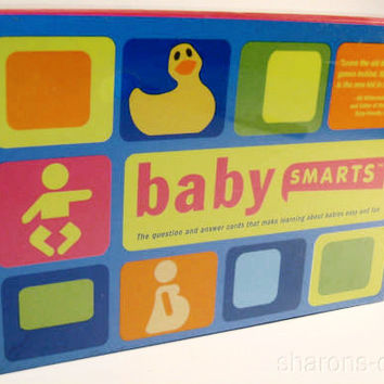 Lot 2 Baby Smarts 60 Question & Answer Cards Babies Fun Way to Learn Shower Game