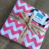 "FREE SHIPPING Riley Blake Small Chevron Dots 5"" Stacker"