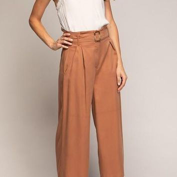 Kari Tencel Culotte Pants in Copper