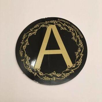 LMFIW1 Supreme Undercover Anarchy Sticker - Black