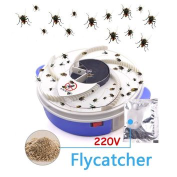 220V Fly Catcher Fly Trap Trapping Flies Pest Control Home Kitchen Easy Clean