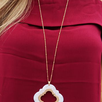 More Like Me Necklace: Gold/Ivory