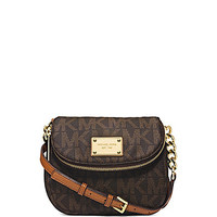 MICHAEL Michael Kors Signature Print Jet Set Flap Cross-Body Bag