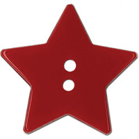 "Blumenthal Lansing-Slimline Buttons-Red Star 2-Hole 1-1/8"" 2/Card at Joann.com"