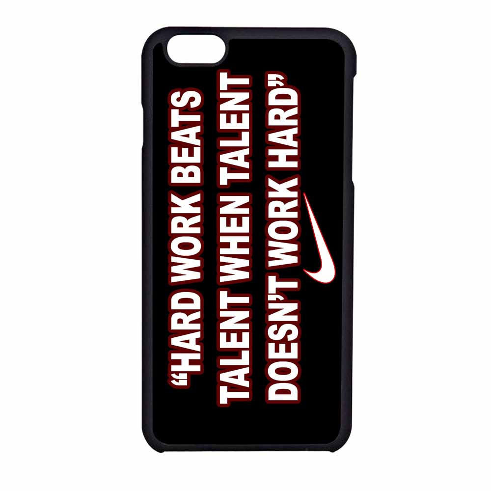 nike quote hard work iphone 6 case from case beauty free. Black Bedroom Furniture Sets. Home Design Ideas