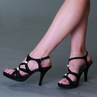 Claire by Dyeables 20912 Black Platform Sandal | Prom Shoes | Prom Dresses | Homecoming Shoes | GownGarden.com