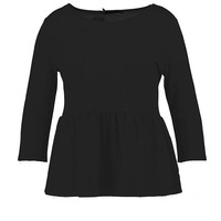 Plus Nadia Ruffle Hem 3/4 Sleeve Top | Boohoo