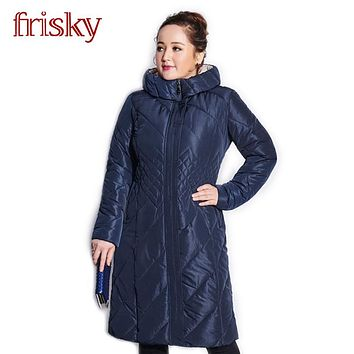 2017 Frisky High-quality Women's Winter Coat Jackets Thick Warm Wind Down Jacket Female Fashion Casual Parkas Plus Size FR2738