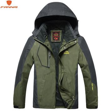 Trendy 2018 spring men's large size L-8XL windbreaker jacket men's polyester 100% waterproof windproof brand clothing stitching jacket AT_94_13