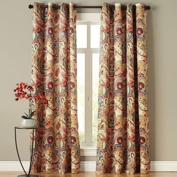 Bohemian Jungle Paisley Window Curtains